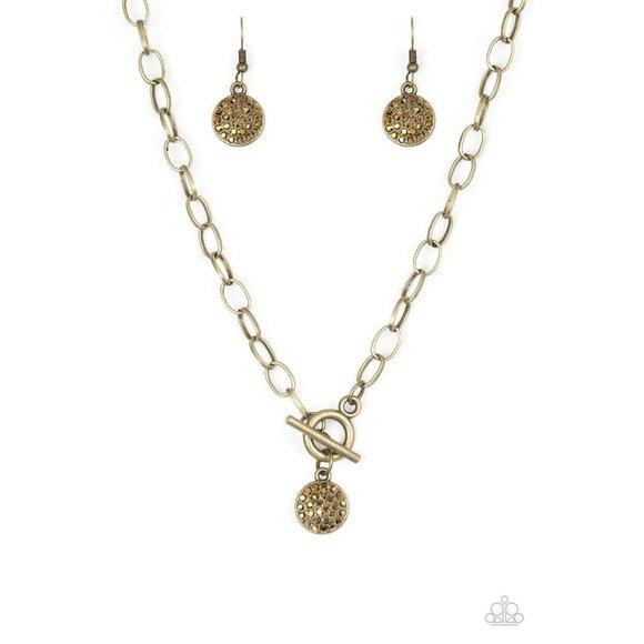 Sorority Sisters - Brass Necklace Earring Set